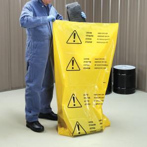 Multi-Lingual Polyethylene Disposal Bags