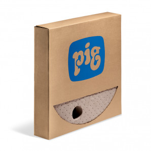 PIG® Brown Oil-Only Barrel Top Mats - Heavy Weight